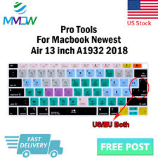 """Avid Pro Tools Hotkey Silicone Keyboard Cover Skin For Macbook 2018 Air 13""""A1932"""