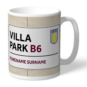 Personalised Aston Villa Mug Tea Cup Any Name Gift Birthday Xmas Son Husband
