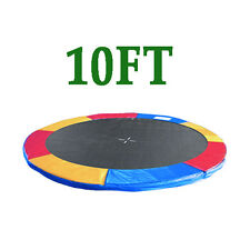 10ft Replacement Trampoline Safety Spring Cover Pad Surround Padding Tri-colour
