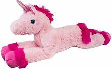 Plüschtier Plüsch Einhorn 110cm Plüschpferd Kuschelpferd Pferd Rosa mit Glitter