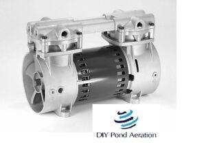 """1+ cfm 18+""""Hg Vacuum Veneer Piston Compressor pump Thomas 2505 not for Aeration!"""