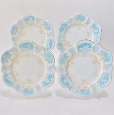 THE FOLEY CHINA WILEMAN FOLEY CAMEO SNOWDROP SHAPE ART NOUVEAU FOUR PLATES NICE!