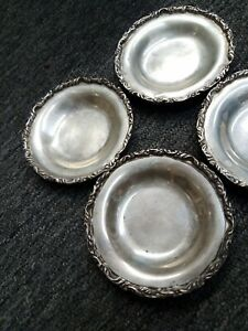 **Elegant Sanborns Mexico Vintage Sterling Silver small plates lot of 4