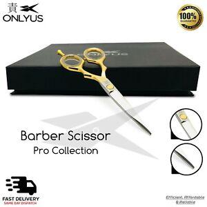 "5.5"" Professional Hair Cutting salon Barber Scissors Gold/Polish J2 Japanese"