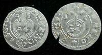 LOT 2 X 1624 MEDIEVAL Poland - Silver 1/24 Thaler - POLKER - VF CONDITION