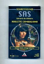 Gérard De Villiers ROULETTE CAMBOGIANA Mondadori 2009 Segretissimo SAS 16 Libro