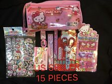 Hello Kitty 15 Pieces Stationery Gift Set School Supplies (Brand New) 3+Years UP
