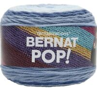 NWT Bernat Pop Yarn  'Blue Chambray' One 5 Oz Cake  Blues Self Striping