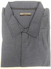 Alfani Blue Striped Cotton Dress Shirt No Pocket 4XB Big and Tall big 4X