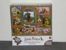 "KI Puzzles  300 Pc Puzzle ""Sports Puppies Collage"" by Linda Picken"