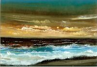 ACEO GLOSSY PRINT Sunset Beach Seascape Miniature Waves Ocean Art Print HYMES