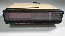 RARE Vintage Collectible PHILIPS electronic clock Radio 090 Tested & Working.