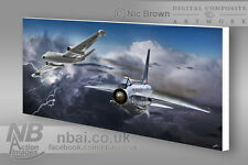 English Electric Lightning & Canberra CANVAS PRINT, Digital Artwork.