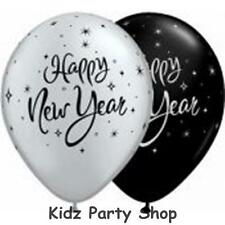 New Year Party - 25 Happy New Year Latex Balloons - Free Post in UK
