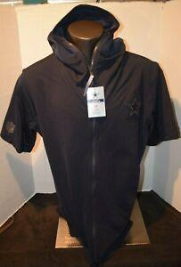 Nike Men's Dallas Cowboys NFL on field Short Sleeve light weight Hoodie NWT M-XL
