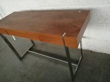 Walnut chrome Console Table