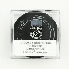 2013-14 Eric Fehr Washington Capitals Game-Used Goal-Scored Puck -Brouwer Assist