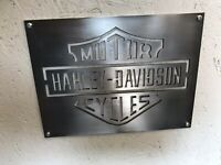 Harley Davidson Motorcycles Steel Sign Automobilia Garage Decor Petrolhead