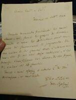 1848 112) LETTERA AUTOGRAFA GRANDE POETA LETTERATO GIOVANNI ROSINI DA LUCIGNANO