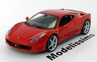 1:18 Hot Wheels Ferrari 458 Italia 2009 red