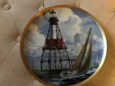 Numbered Porcelain American Shoals Lighthouse Plate From Hamilton Collection