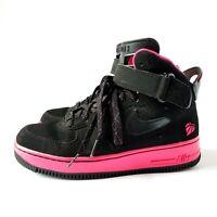 Nike Air Jordan AJF Basketball Shoes Youth Girls 6Y High Top Black/Pink