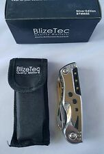 EDC Knife 8-in-1 Tactical Pocket Multifunction Folding Gear w/ LED Light Silver