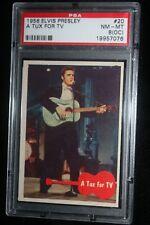 "1956 Elvis Presley A Tux For Tv #20 Psa 8 (Oc) Nm Mt ""King Of Rock n' Roll"""