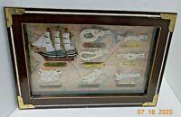 Vintage Nautical Knots & 1869 Cutty Sark Ship Framed Shadow Box #96735
