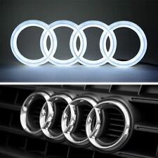 AUDI FRONT LED EMBLEM BADGE RINGS ULTRA WHITE LIGHTS Q3 Q5 Q7 A3 A4 A5  A6 A7 A8