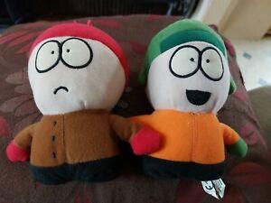 "South Park Soft Toy Bundle - x 2 - Stan Marsh + Kyle Broflovski - 6"" Tall - 2008"