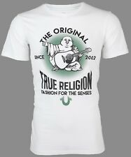 True Religion Mens S/S T-Shirt REAL DEAL BUDDHA Designer WHITE Jeans S-3XL $69