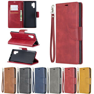 Soft Leather Case For Apple iPhone 11 Pro Max XS Max XR Samsung S10 Flip Cover