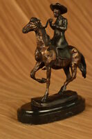 Remington Inspired Large Hot Cast Cowboy with Gun Old West Bronze Sculpture DB