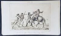 1837 Roux de Rochelle Original Antique Print Arrest of John Andre 1780 B. Arnold