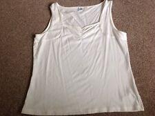 Damen Creme Trägertop Baumwolle Größe 16 Bio Pure Wear NEU