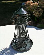 Hanging Wild Bird Feeder Garden Yard Decoration Lighthouse Shaped Metal