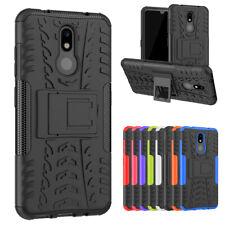 For Nokia 3 V Case Hybrid Rugged Shockproof Armor Kickstand Phone Cover