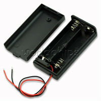 2 AA 2A Battery Holder Box Case ON/OFF Switch and Cover for 2AA battery New