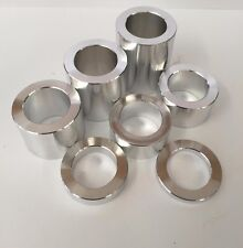"ID-25mm OD-1-1/2"" WHEEL AXLE SPACER KIT - 7 PCS. -  HARLEY ALUMINUM CNC"