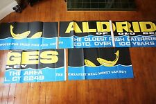 1970s Aldridges Bexley Fish & Chips Bus London Transport Huge Advertising Poster