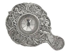 VINTAGE - Solid DUTCH Sterling Silver - Tea Strainer