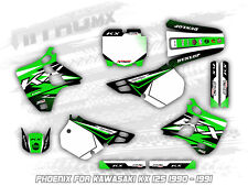 NitroMX Graphic Kit for KAWASAKI KX 125 1990 1991 Motocross Decal Stickers MX
