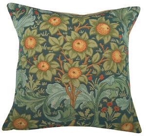 "Orange Tree w/Arabesques Blue French Tapestry Cushion H 19"" x w 19"" NEW"