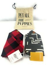 NWT! Pet All The Puppies The Foggy Dog Set of 2 Dog Bandana Style Collar