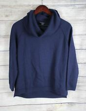 A PEA IN THE POD Maternity Womens Blue Cowl Neck Sweater Top LARGE