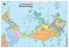 NEW Laminated Wall Maps - World Upside Down World Map