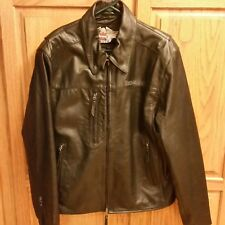 Harley Davidson Motorcycles Mens Large Leather Jacket Coat American Heritage