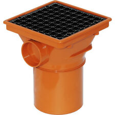 NEW plumbing underground soil waste Square Hopper 110mm Each, drainage, drain