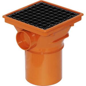 NEW plumbing underground soil waste Square Hopper 110mm Each, drainage, drain